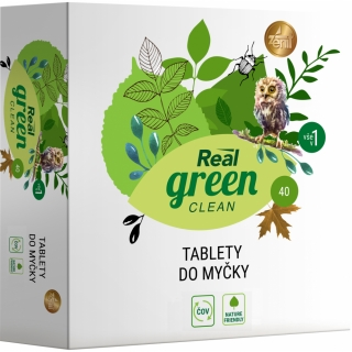 REAL GREEN tablety do myčky 40 ks